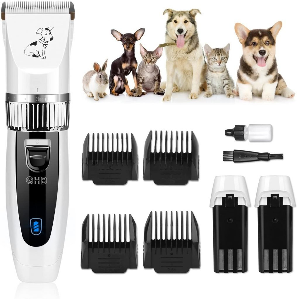 GHB, máquina cortadora de pelo de perros con cuatro peines