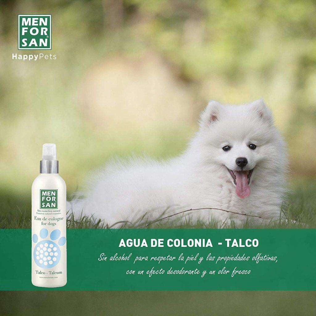 agua de colonia para perros, menforsan talco
