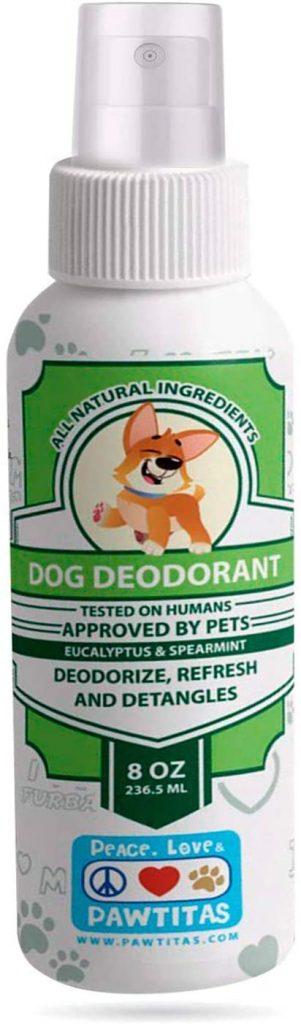 colonia desodorante para perros de la marca pawtitas