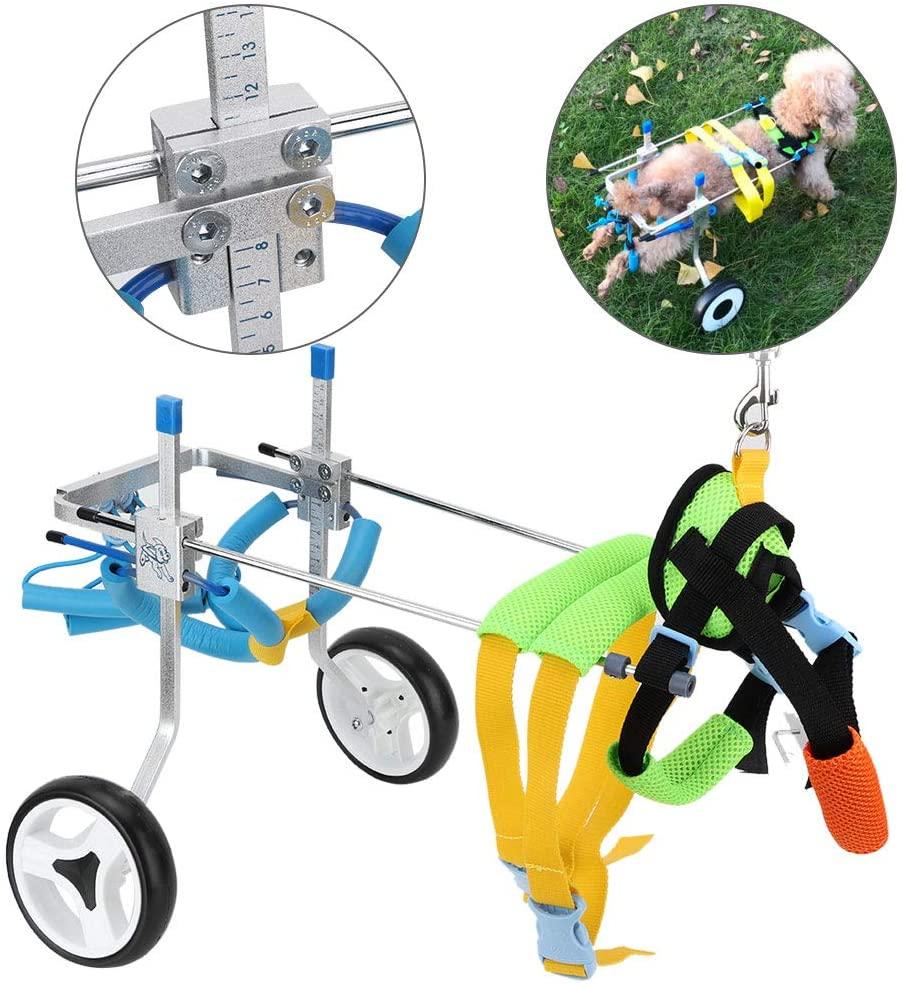soporte con ruedas para patas traseras de los perros